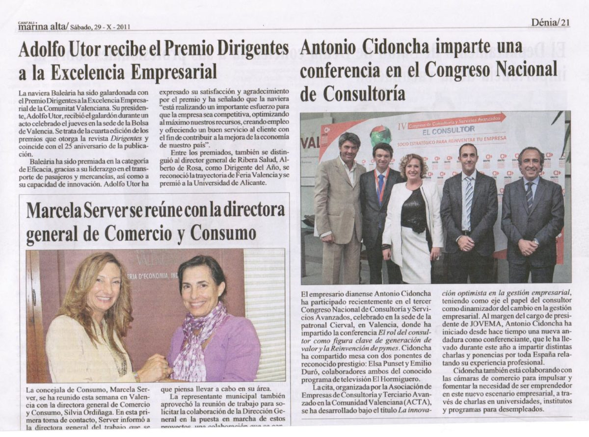 La voz de Cidoncha sonó en el Congreso Nacional de Consultoría