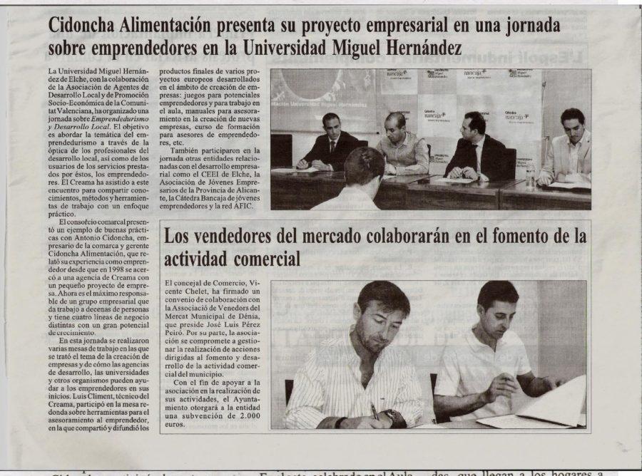 Cidoncha presentó la empresa en la UMH